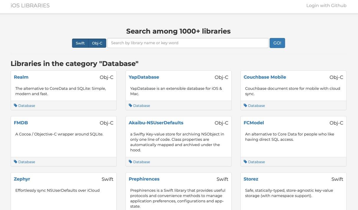 databaseで検索