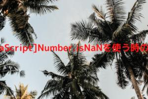 [javaScript]Number.isNaNを使う時の注意